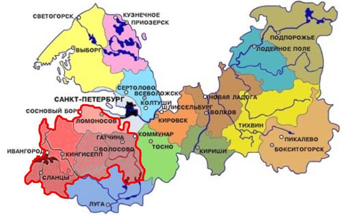 Карта Ленинградской области: мы отремонтируем Вашу квартиру в ЛО