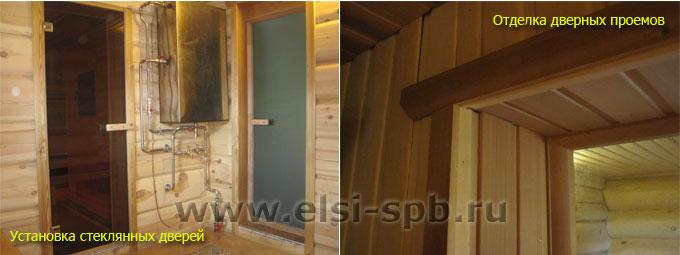 Установка дверей и отделка дверных проемов